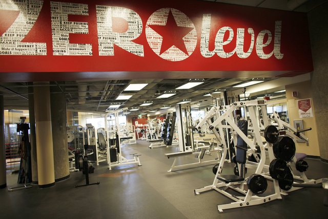 The fitness floor at the Zero Level Fitness and Wellness gym at McCarran International Airport in Las Vegas on Monday, Jan. 23, 2017. (Rachel Aston/Las Vegas Review-Journal) @rookie__rae