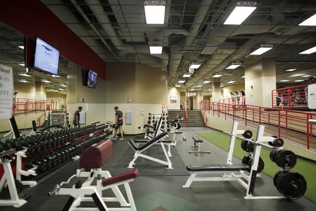 The Zero Level Fitness and Wellness gym at McCarran International Airport in Las Vegas on Monday, Jan. 23, 2017. (Rachel Aston/Las Vegas Review-Journal) @rookie__rae