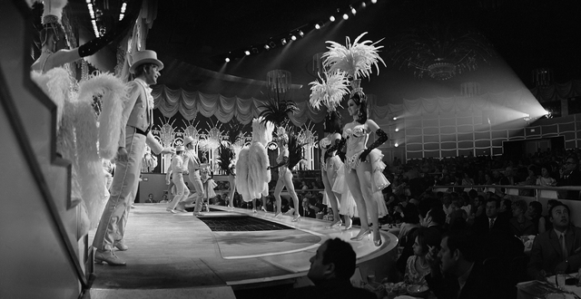 Folies Bergere showroom at the Tropicana Hotel in Las Vegas, Nevada, April 3, 1969. CREDIT: Don English  Las Vegas News Bureau