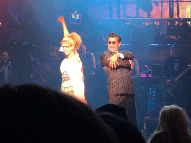 """Sara Andreas and Bob Torti perform in the final number of """"Rock of Ages"""" at the Rio on Sunday, Jan. 1, 2017. (John Katsilometes/Las Vegas Review-Journal)"""