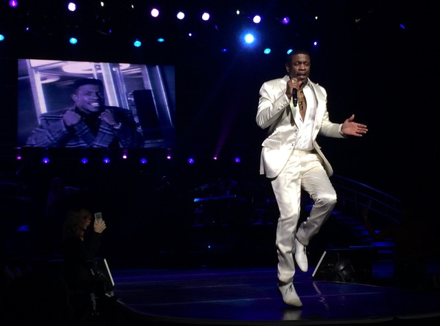 Keith Sweat delivers 30 years worth of hits in his Strip debut at the Flamingo. (Mike Weatherford/Review-Journal)