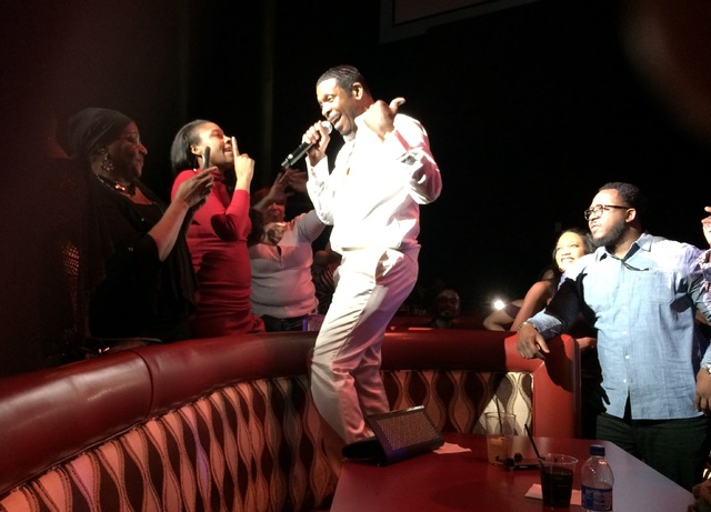 Keith Sweat takes his love straight to the fans. (Mike Weatherford/Review Journal)
