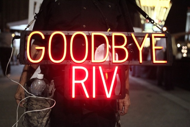 The Riviera hotel-casino was imploded to make way for an expansion of the Las Vegas Convention Center on June 14, 2016. (Loren Townsley/Las Vegas Review-Journal)
