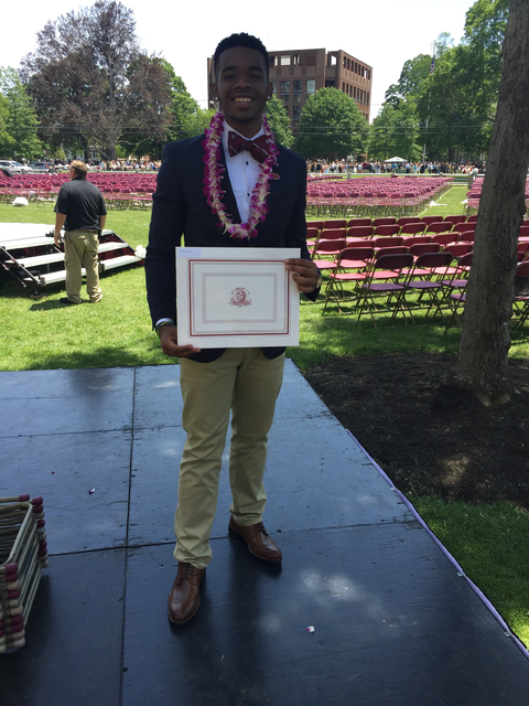 Lazaro Cesar at graduation from Phillips Exeter Academy on June 7, 2015. (Georgio Secondi)