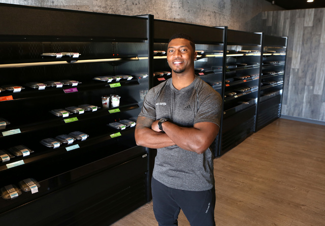 Health Binge founder Gerome Sapp at his store on 6040 W. Badura Ave., on Wednesday, Jan. 18, 2017, in Las Vegas. The shop near Jones Boulevard and the 215 Beltway is the first retail location in L ...