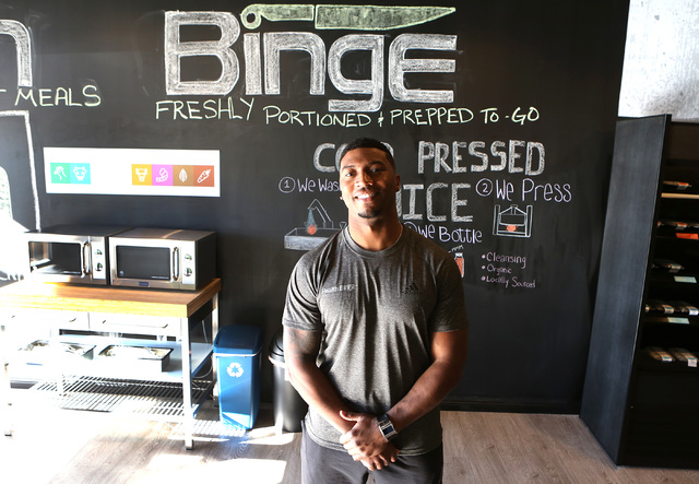 Health Binge founder Gerome Sapp at his store on 6040 W. Badura Ave. on Wednesday, Jan., 18, 2017, in Las Vegas. The shop near Jones Boulevard and the 215 Beltway is the first retail location in L ...