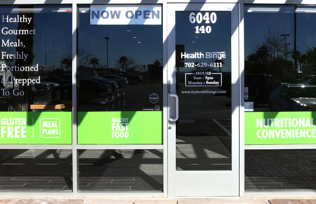 Health Binge store on 6040 W. Badura Ave., on Wednesday, Jan. 18, 2017, in Las Vegas. The shop near Jones Boulevard and the 215 Beltway is the first retail location in Las Vegas for the health con ...