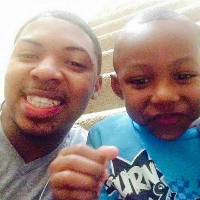 Ethan Hogan with 5-year-old son, Elijah (Facebook)