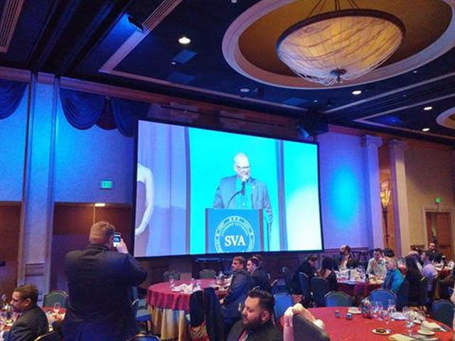 UNLV Director of Military and Veteran Services Ross Bryant received the National Advisor of the Year award at the Student Veteran's of America Conference at the Disneyland Hotel and Resort in Anah ...