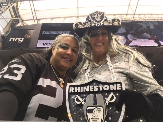 Raiders fans before the team's playoff Saturday in Houston. (Jon Saraceno/Las Vegas Review-Journal)