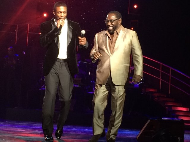 Eddie Levert of The O'Jays showed up to help Keith Sweat on his opening night at the Flamingo (Mike Weatherford/Review-Journal)