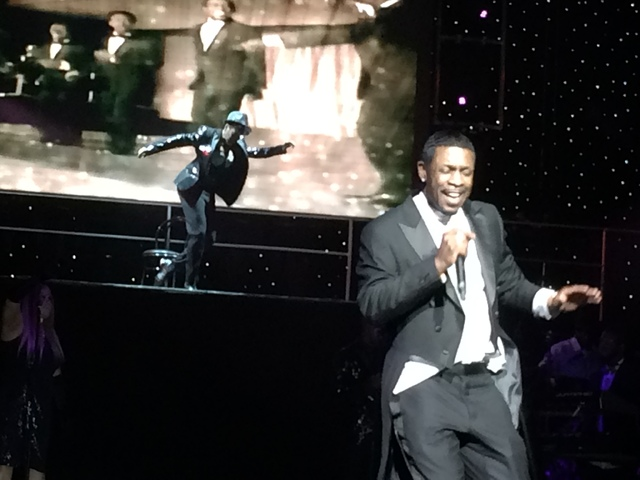 Keith Sweat includes a 'Mr. Bojangles' tribute to Sammy Davis Jr. in his Flamingo showcase. (Mike Weatherford/Review-Journal.)