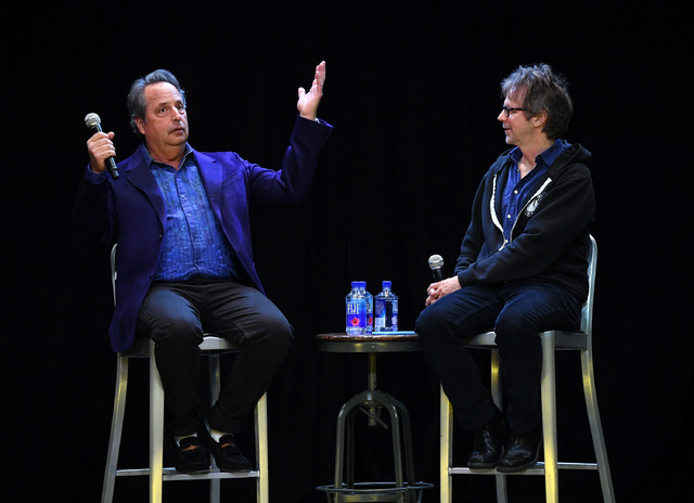 """Comedian/actors Jon Lovitz, left, and Dana Carvey kick off their 20-show residency """"Reunited"""" at The Foundry at SLS Las Vegas on January 6, 2017 in Las Vegas, Nevada.  (Ethan Miller/Getty Images f ..."""