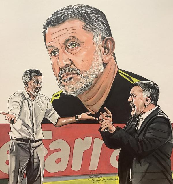 Illustration of Mexican national football team head coach Juan Carlos Osorio. (Neal Portnoy/Las Vegas Review-Journal)