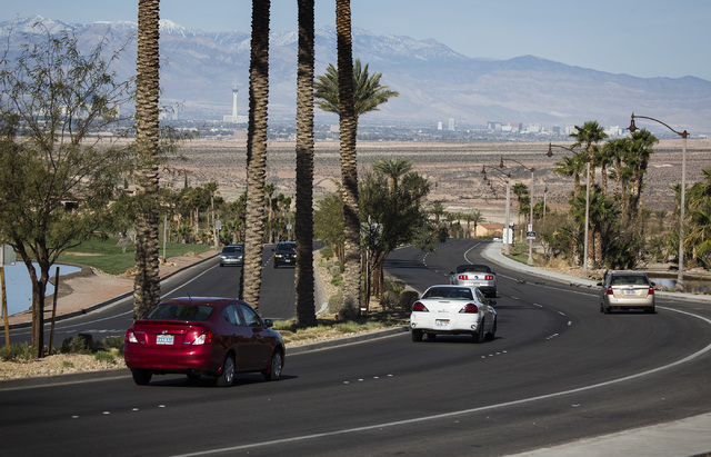The entrance of Lake Las Vegas east of Henderson as seen Friday. March 7,2014. The new owners of the 3,592 acre master planned community around a 320 acre artificial lake are revitalizing the fron ...
