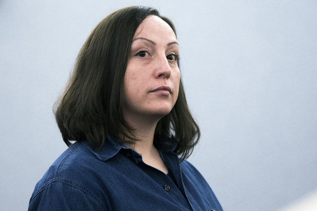 Kirstin Lobato, who has long claimed her innocence in a 2001 killing, appears at the Regional Justice Center on Wednesday Jan. 4, 2017. Jeff Scheid/Las Vegas Review-Journal Follow @jeffscheid