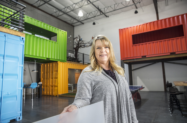 Christine Flores, vice president of Joel Laub & Associates, which sold four units at their industrial-residential project LoftWorks in the final months of 2016. (Benjamin Hager/Las Vegas Revie ...