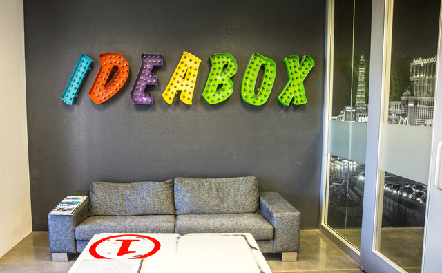 IDEABOX is one of the companies that have set up shop at the industrial-residential project LoftWorks. (Benjamin Hager/Las Vegas Review-Journal)