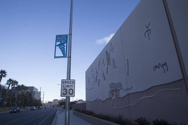 The Las Vegas Medical District near Shadow Lane and Alta Drive on Tuesday, Jan. 24, 2017, in Las Vegas. Erik Verduzco/Las Vegas Review-Journal Follow @Erik_Verduzco