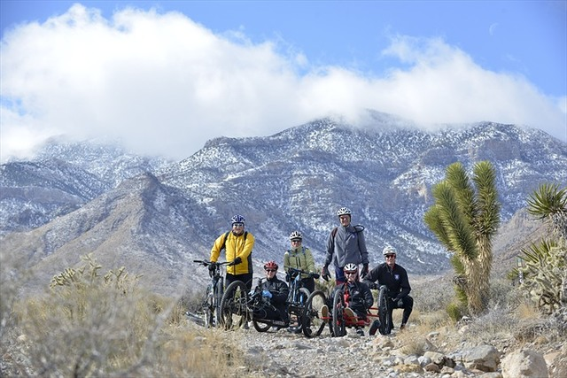 Veterans participate in a recent Ride 2 Recovery event in Las Vegas. (Tiffini Skuce/Project Hero)