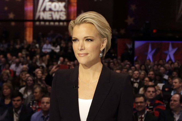 Megyn Kelly waits for the start of the Republican presidential primary debate in Des Moines, Iowa, Jan. 28, 2016. Kelly announced on Tuesday, Jan. 3, 2017, that she is leaving Fox to go to NBC New ...