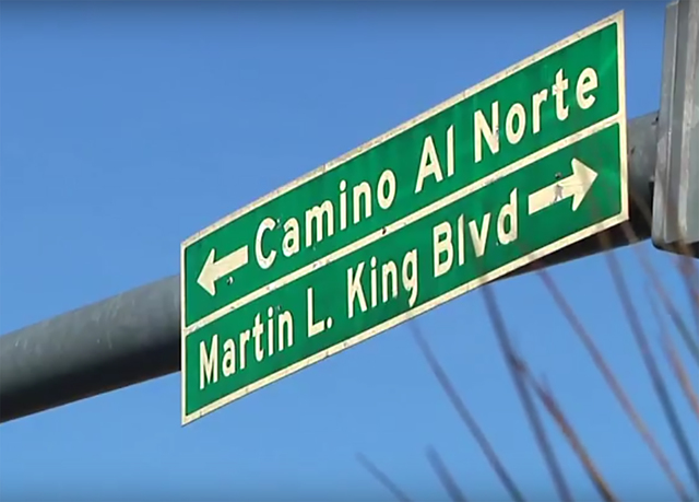 When Martin Luther King Boulevard  was named it only extended nort as far as craig Road. Supsequent extensions of the road did not bear the same name.  Special to View
