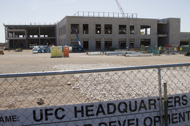 Construction continues on the new UFC headquarters at 6650 S. Torrey Pines Drive in Las Vegas on Monday, July 7, 2016. (Richard Brian/Las Vegas Review-Journal)