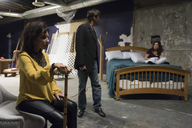 """Actors Charlene Sher, left, and her daughter Rozanne Sher, right, rehearse for a production of """"Becky Shaw"""" at A Public Fit theatre company in Las Vegas Tuesday, March 16, 2016.  ..."""
