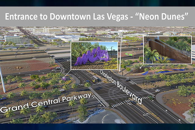Final designs are underway for two sculptures that are already anticipated as a new local landmark by a team of artists and the Nevada Department of Transportation. (Nevada Department of Transport ...