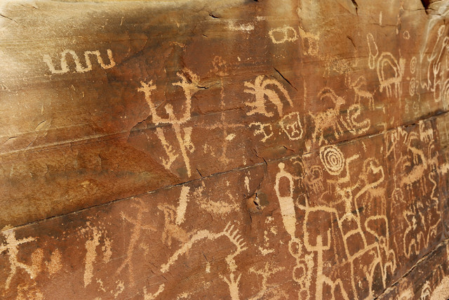 Petroglyphs at Gold Butte National Monument on Tuesday, Jan. 17, 2017, in Gold Butte, Nevada. (Christian K. Lee/Las Vegas Review-Journal) @chrisklee_jpeg