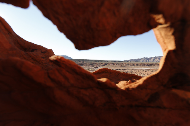 Gold Butte National Monument on Tuesday, Jan. 17, 2017, in Gold Butte, Nevada. (Christian K. Lee/Las Vegas Review-Journal) @chrisklee_jpeg