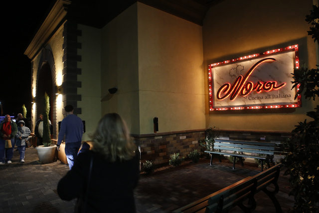 Guests walk into Nora's Italian Cuisine on Friday, Jan. 6, 2017, in Las Vegas. (Christian K. Lee/Las Vegas Review-Journal) @chrisklee_jpeg
