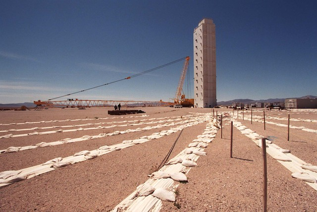 "Plastic covered cables for Underground nuke test ""Icecap"" cancelled in 1992. March 30, 1997. (Gary Thompson/Las Vegas Review-Journal)"