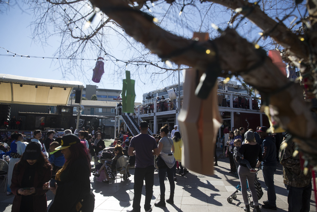 People attend the Chinese New Year in the Desert event at the Container Park on Saturday, Jan. 28, 2017, in Las Vegas. Erik Verduzco/Las Vegas Review-Journal Follow @Erik_Verduzco