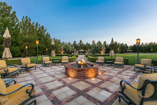 The property has several outdoor entertainment areas. (Courtesy)