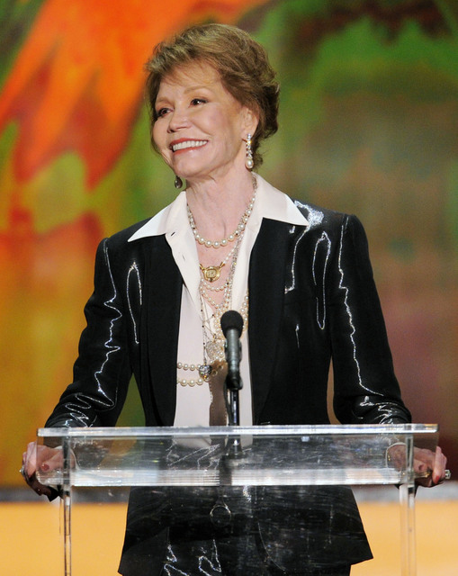 Mary Tyler Moore accepting the Life Achievement award at the 18th Annual Screen Actors Guild Awards in Los Angeles. (Mark J. Terrill/AP)