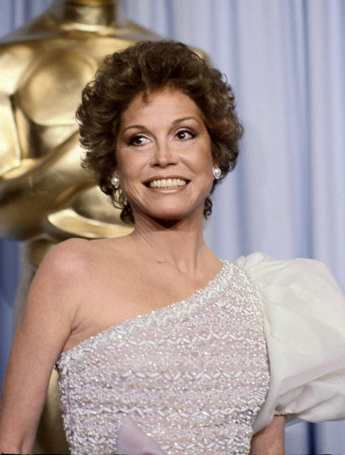 """Mary Tyler Moore at the 53rd Academy Awards in Los Angeles. Moore, nominated for Best Actress for her film """"Ordinary People,"""" lost out to Sissy Spacek for """"Coal Miner's Daughter."""" (Randy Rasmussen/AP)"""