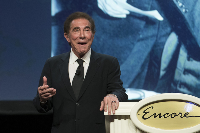 Steve Wynn, CEO of Wynn Resorts, speaks during the E. Parry Thomas memorial celebration at the Wynn hotel-casino on Tuesday, Sept. 6, 2016, in Las Vegas. Erik Verduzco/Las Vegas Review-Journal Fol ...