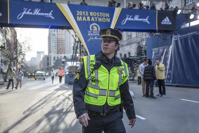 Photo credit: Karen Ballard Mark Wahlberg on the set of PATRIOTS DAY to be released by CBS Films and Lionsgate.