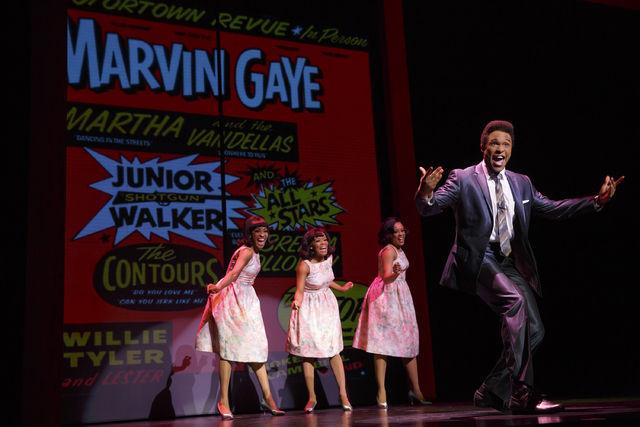 """Motown the Musical"" flashes back to the label's beginnings, as Martha and the Vandellas back Marvin Gaye. JOAN MARCUS/SMITH CENTER FOR THE PERFORMING ARTS"