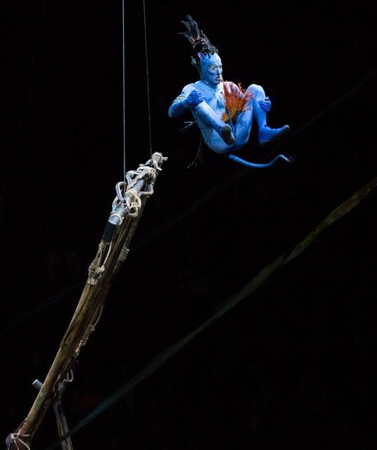 """""""Toruk: The First Flight"""" by Cirque du Soleil at T-Mobile Arena on Wednesday, Jan. 18, 2017, in Las Vegas. (Tom Donoghue)"""