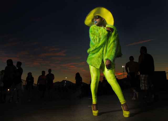 Troy Clinton poses for a photo at dawn during Electric Daisy Carnival on Friday, June 17, 2016, at Las Vegas Motor Speedway, in Las Vegas. Benjamin Hager/Las Vegas Review-Journal