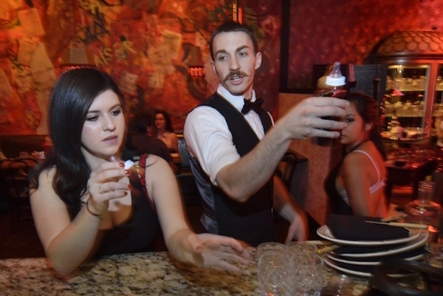 Gaby Lara, left, and manager Kevin Naylor are shown at work at F. Pigalle at 508 Fremont St. in Las Vegas on Saturday, Feb. 13, 2016. Bill Hughes/Las Vegas Review-Journal