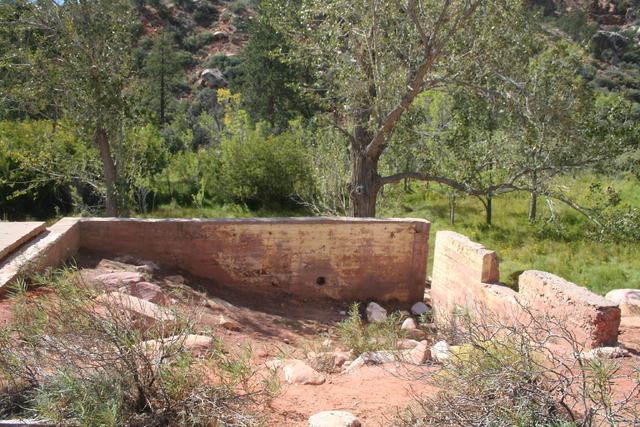 Just off the Pine Creek Canyon trail you can see a foundation of the two-story homestead house built by Horace and Glenda Wilson in 1920. (DEBORAH WALL/SPECIAL TO VIEW)