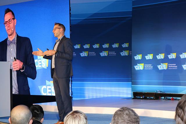 Shawn DuBravac, chief economist of the Consumer Technology Association, presents a pre-CES 2017 session on tech trends at the Las Vegas Convention Center Wednesday, Jan. 4, 2016. (Nicole Raz/Las V ...