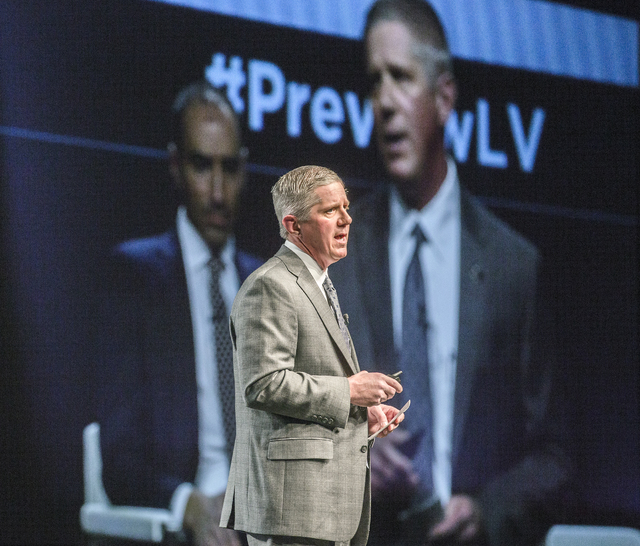 Kerry Bubolz, president of the Vegas Golden Knights NHL team,speaks during Preview Las Vegas at Cox Pavilion in Las Vegas, at Cox Pavilion on Tuesday, Jan. 24, 2017. (Jeff Scheid/Las Vegas Review- ...