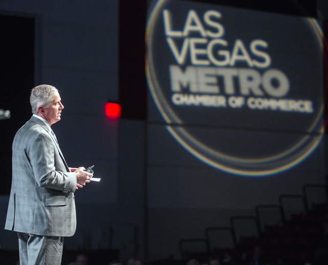 Kerry Bubolz, president of the Vegas Golden Knights NHL team,speaks during Preview Las Vegas at Cox Pavilion in Las Vegas on Tuesday, Jan. 24, 2017. (Jeff Scheid/Las Vegas Review-Journal) @jeffscheid