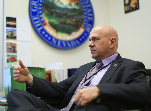 Nevada Department of Corrections Director James Dzurenda talks about his plans for the Nevada prison system at his office in Las Vegas on Thursday, Dec. 22, 2016. (Brett Le Blanc/Las Vegas Review- ...