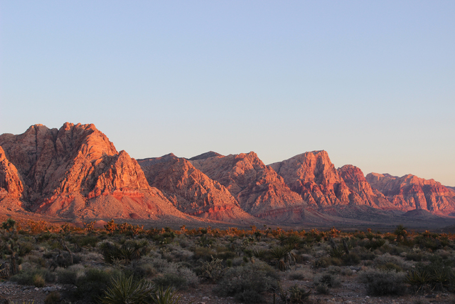 Red Rock Canyon National Conservation Area at sunrise. (DEBORAH WALL/SPECIAL TO VIEW)