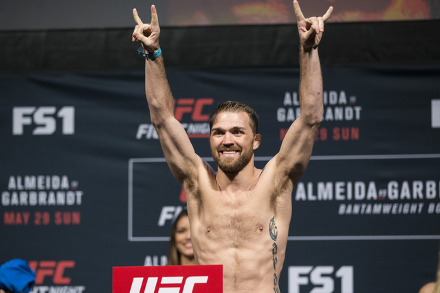 Bryan Caraway poses during his weigh-in at the Mandalay Bay Events Center on Saturday, May 28, 2016, in Las Vegas. (Erik Verduzco/Las Vegas Review-Journal )Follow @Erik_Verduzco